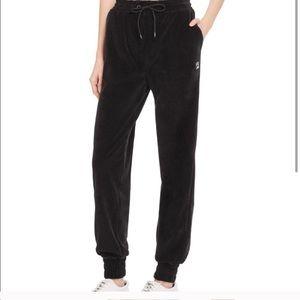Fila Black Velour / Velvet Sweatpants